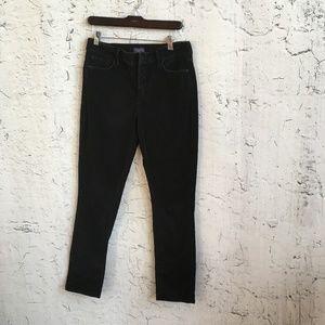 NYDJ BLACK CORDUROY PANTS 8